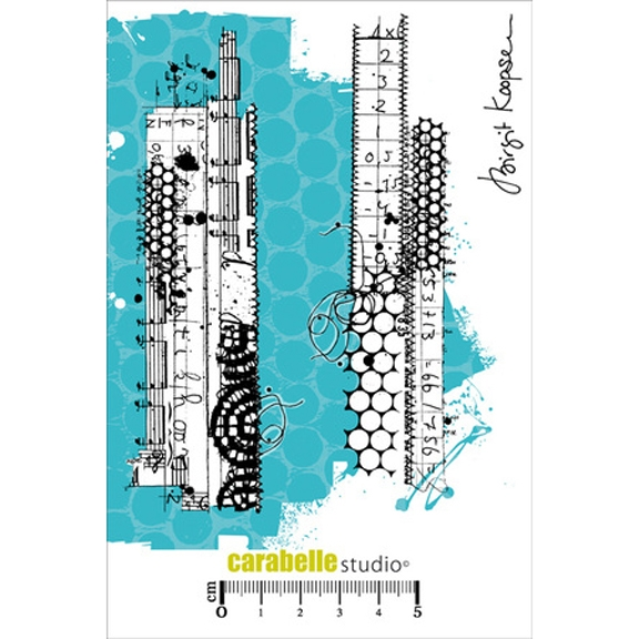 Carabelle Studio MIXED MEDIA STRIPS Cling Stamp SA60244 zoom image
