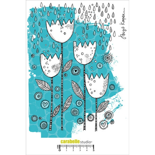 Carabelle Studio DUTCH TULIPS A5 Cling Stamp SA50014 Preview Image