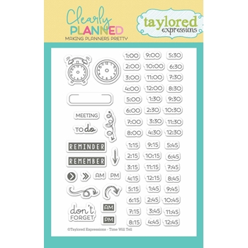 Taylored Expressions Clearly Planned TIME WILL TELL Clear Stamp Set TECP10
