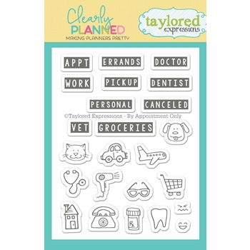 Taylored Expressions Clearly Planned BY APPOINTMENT Clear Stamp Set TECP02