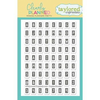 Taylored Expressions Clearly Planned ALPHA BLOCKS Clear Stamp Set TECP04