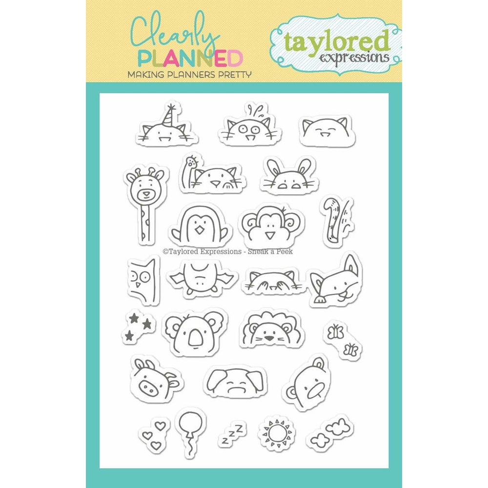 Taylored Expressions Clearly Planned SNEAK A PEEK Clear Stamp Set TECP13 zoom image