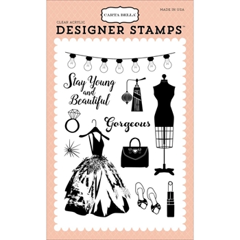 Carta Bella GORGEOUS GIRL Clear Stamps CBMG60043