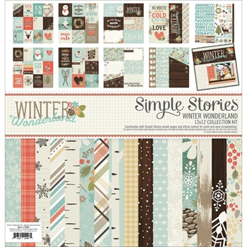 Simple Stories WINTER WONDERLAND 12 x 12 Collection Kit 7500