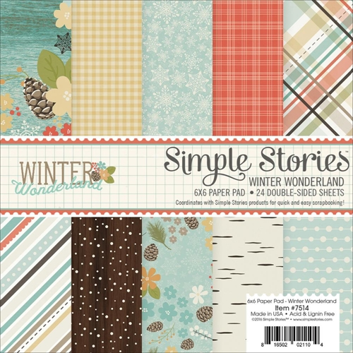Simple Stories WINTER WONDERLAND 6 x 6 Paper Pad 7514 Preview Image