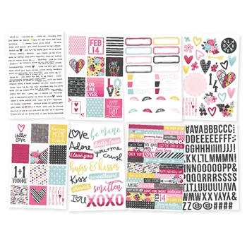 Simple Stories LOVE AND ADORE Stickers 7616
