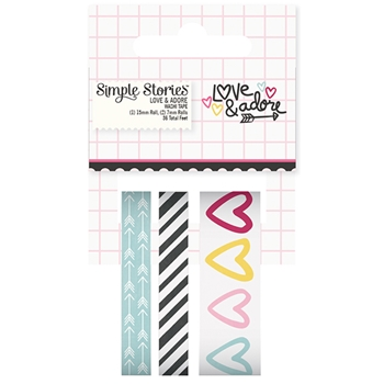 Simple Stories LOVE AND ADORE Washi Tape 7620
