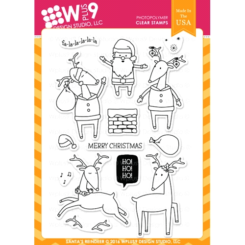 Wplus9 SANTA'S REINDEER Clear Stamps CLWP9SR Preview Image
