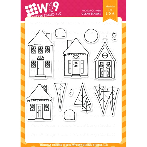 Wplus9 HOLIDAY HOUSES Clear Stamps CLWP9HOHO Preview Image