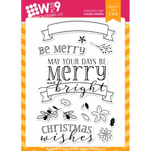 Wplus9 BE MERRY Clear Stamps CLWP9BEME Preview Image