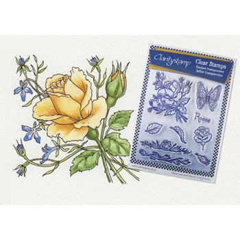 Claritystamp JAYNE NESTORENKO ROSES Floral Collection Clear Stamps STAFL10320A5