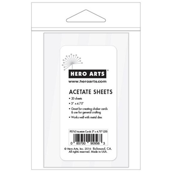 Hero Arts ACETATE CARDS 3 x 4.75 inches PS763