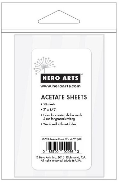 Hero Arts ACETATE CARDS 3 x 4.75 inches PS763 zoom image