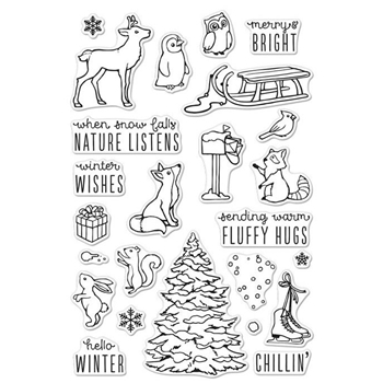 RESERVE Hero Arts Clear Stamps WINTER TIME FUN CM120