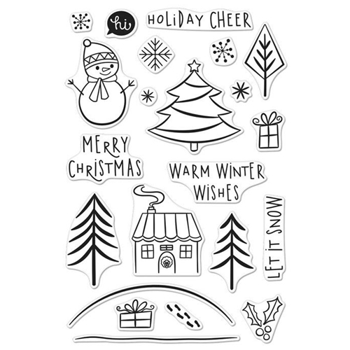 Hero Arts Clear Stamp HOLIDAY CHEER Set CM119 Preview Image