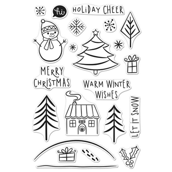 Hero Arts Clear Stamp HOLIDAY CHEER Set CM119
