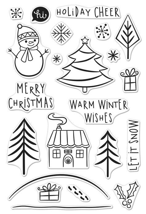Hero Arts Holiday Cheer Clear Stamp Set