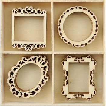 Kaisercraft FRAMES Wooden Shapes Flourish Pack FL586