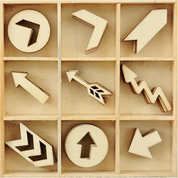 Kaisercraft ARROWS Wooden Shapes Flourish Pack FL585