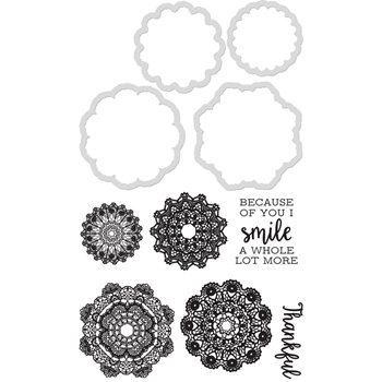 Kaisercraft DOILIES Die and Stamp Set DD940
