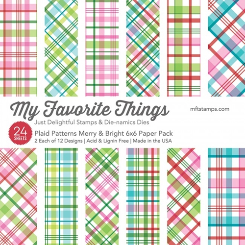 My Favorite Things MERRY AND BRIGHT PLAID PATTERNS 6x6 Paper Pack 15230 Preview Image