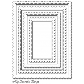 My Favorite Things STITCHED RECTANGLE SCALLOP EDGE FRAMES Die-Namics MFT924