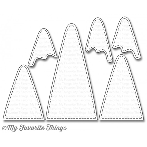 My Favorite Things SNOW CAPPED MOUNTAINS Die-Namics MFT987 Preview Image
