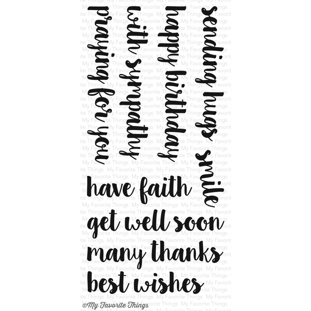 My Favorite Things ALL OCCASION SENTIMENTS Clear Stamps CS141 zoom image