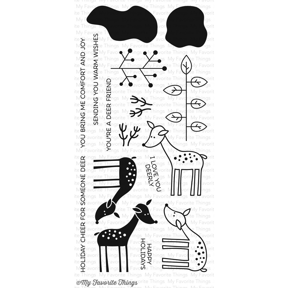 My Favorite Things Deer Friends Stamp Set