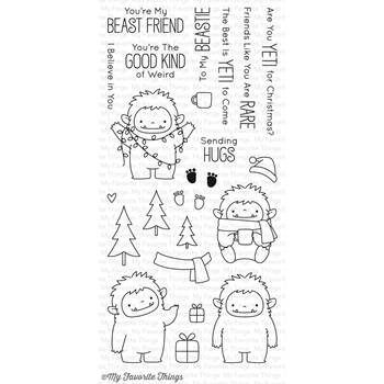 My Favorite Things BEAST FRIENDS Clear Stamps BB39