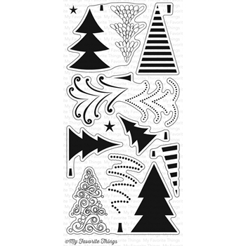 My Favorite Things OH CHRISTMAS TREES Clear Stamps CS149