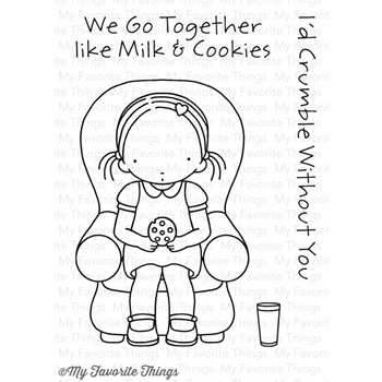 Pure Innocence MILK AND COOKIES Clear Stamps MFT PI253