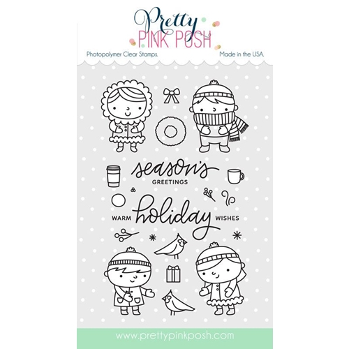 Pretty Pink Posh CHRISTMAS FRIENDS Clear Stamp Set Preview Image