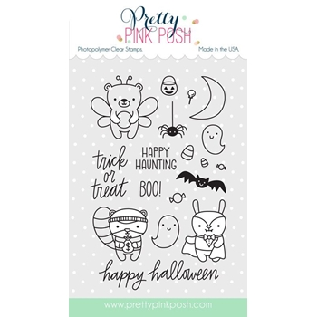 Pretty Pink Posh HALLOWEEN FRIENDS Clear Stamp Set