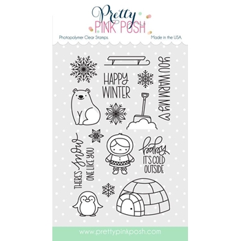 Pretty Pink Posh WINTER WONDERLAND Clear Stamp Set