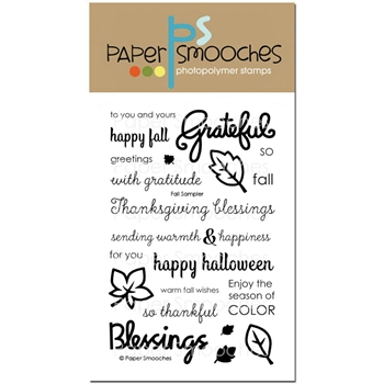 Paper Smooches FALL SAMPLER Clear Stamps OCS273