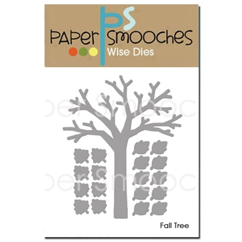 Paper Smooches FALL TREE Wise Dies OCD347