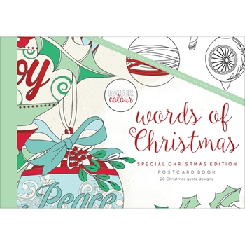 Kaisercraft Colour WORDS OF CHRISTMAS Postcard Book CL596