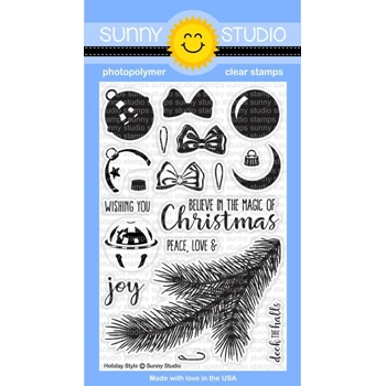 Sunny Studio HOLIDAY STYLE Clear Stamp Set SSCL142