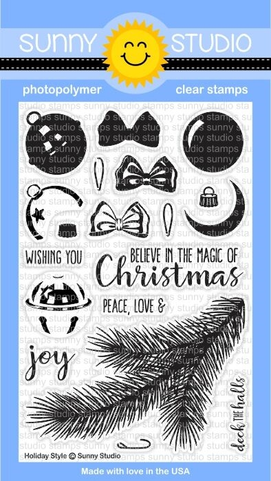 Sunny Studio HOLIDAY STYLE Clear Stamp Set SSCL142 zoom image
