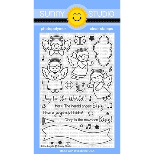 Sunny Studio LITTLE ANGELS Clear Stamp Set SSCL144 Preview Image