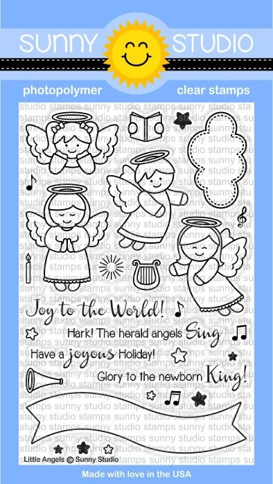 Sunny Studio LITTLE ANGELS Clear Stamp Set SSCL144 zoom image