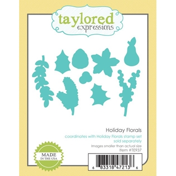 Taylored Expressions HOLIDAY FLORALS Die Set TE937
