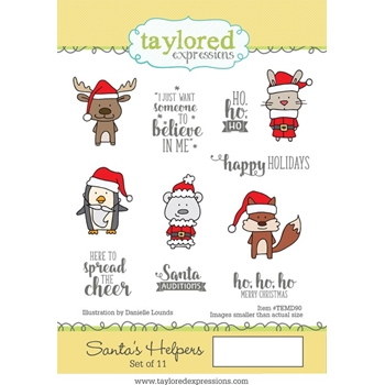 Taylored Expressions SANTA'S HELPERS Cling Stamp Set TEMD90