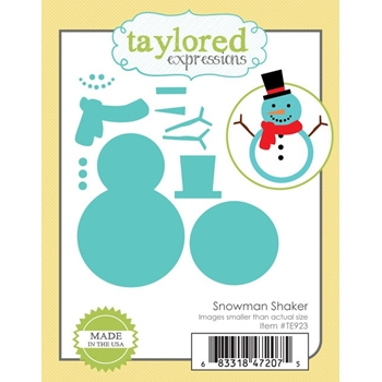 Taylored Expressions SNOWMAN SHAKER Die Set TE923