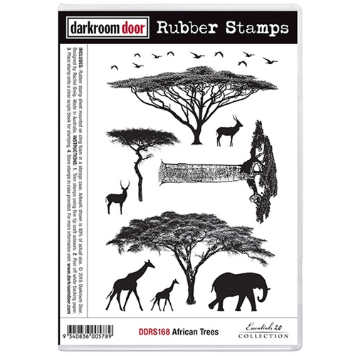 Darkroom Door Cling Stamp AFRICAN TREES Rubber UM DDRS168 Preview Image