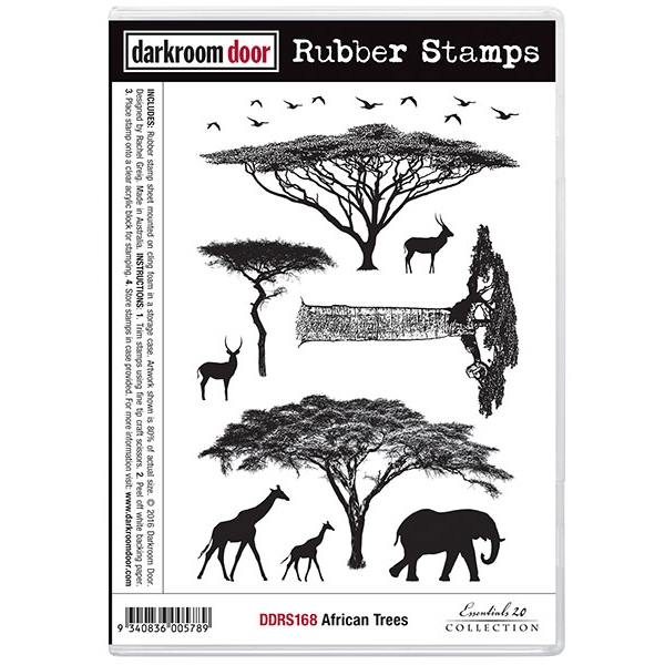 Darkroom Door Cling Stamp AFRICAN TREES Rubber UM DDRS168 zoom image