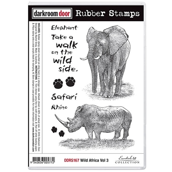Darkroom Door Cling Stamp WILD AFRICA VOLUME 3 Rubber UM DDRS167