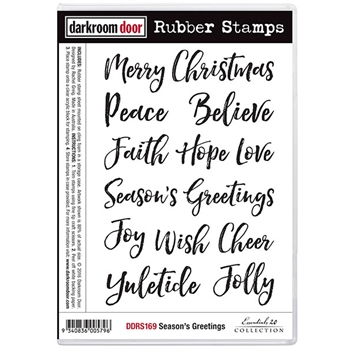 Darkroom Door Cling Stamp SEASONS GREETINGS Rubber UM DDRS169