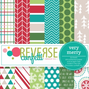 Reverse Confetti VERY MERRY 6x6 Inch Paper Pad Preview Image